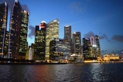 Skyline at night, Singapore