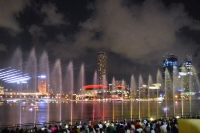 Light Show, Singapore, Marina Bay