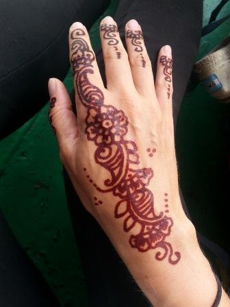 Henna-Tattoo nachher