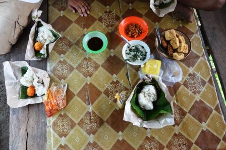 Lunch auf der Radtour, Bukit Lawang