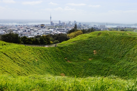 Auckland, Skyline, view Mt. Eden