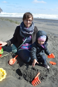 Renata + Ruby at Piha Beach