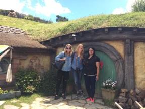 Brianna, me, Jini at Hobbiton