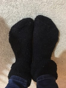 Keeping your feet warm is vital!